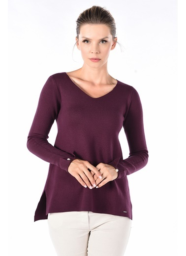 Optique Knitwear Kazak Bordo
